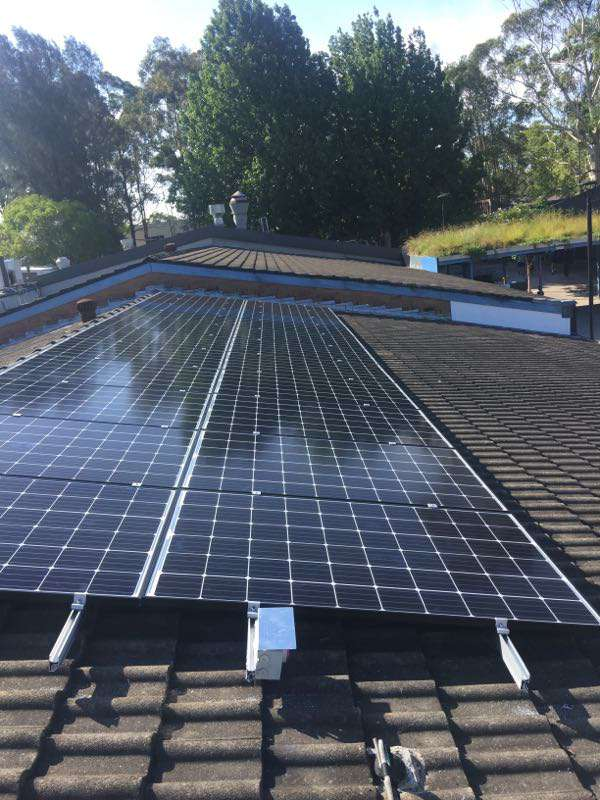 A solar array installed by Skylight Energy on an IGA Supermarkets roof